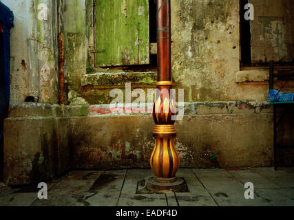 Beautiful street light in Jakarta in Java in Indonesia in Southeast Asia Far East. Serenity Travel - Stock Photo