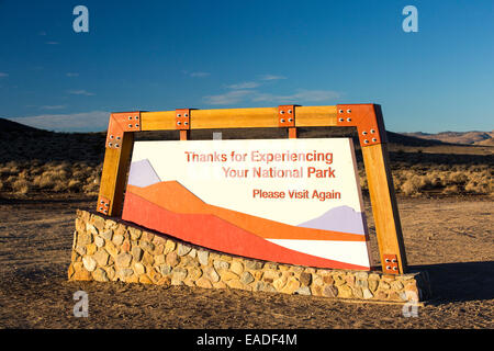 The northern exit of Death Valley, California, USA. - Stock Photo