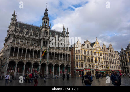 Grand Place in Brussels, Belgium, Europe - Stock Photo