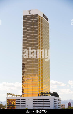 Trump tower in Las Vegas, Nevada, USA, probably the most unsustainable city in the world, it uses vast quantities - Stock Photo