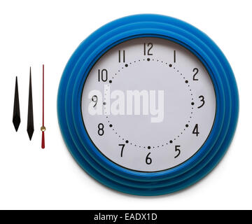 Adjustable Custom Clock Face Isolated on White Background. - Stock Photo