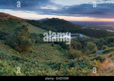 The Reservoir at British Camp, part of the Malvern Hills in Herefordshire and Worcestershire. - Stock Photo