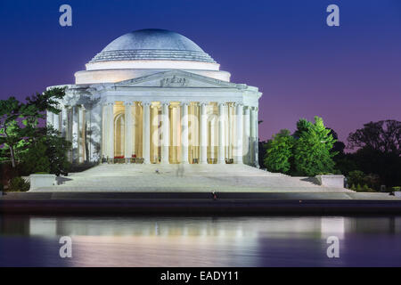 The Thomas Jefferson Memorial is a presidential memorial in Washington, D.C, dedicated to Thomas Jefferson. - Stock Photo