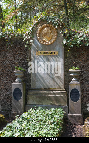 Grave of Johann Nepomuk Hummel, Austrian composer and pianist, Historical Cemetery, Weimar, Thuringia, Germany - Stock Photo