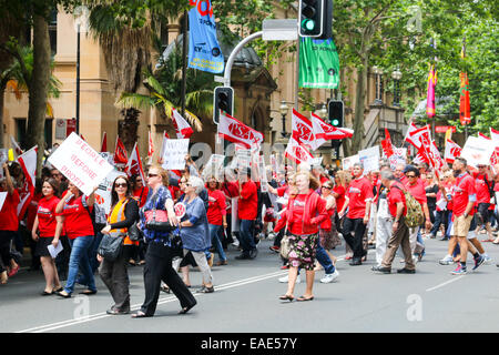 Sydney, Australia. 13th Nov, 2014. The Public Service Association in New South Wales is concerned about job losses - Stock Photo