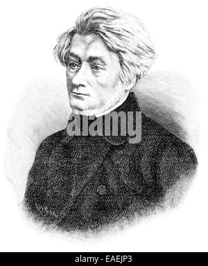Adam Bernard Mickiewicz, 1798 - 1855, Polish national poet, publicist, translator, Adam Bernard Mickiewicz, 1798 - Stock Photo