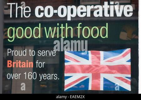 Local co-operative shop in Kings Sutton England - Stock Photo