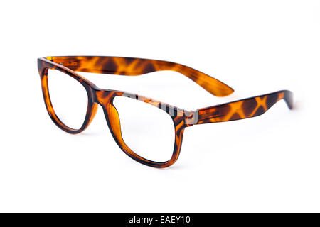 Turtle shell glasses isolated - Stock Photo