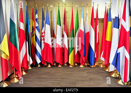 Detail shot with flags of the European Union member states