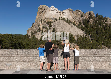 Mount Rushmore National Memorial, SD, USA - Stock Photo