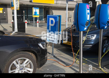 Parking Spot For Electric Cars Only At Schiphol Airport Amsterdam