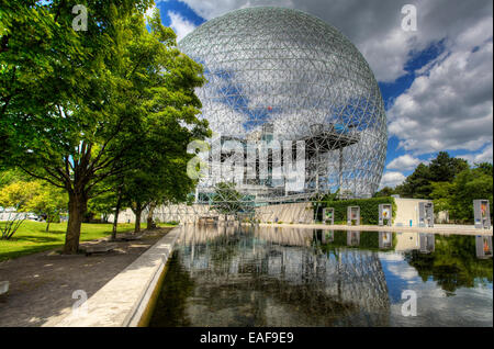 The biosphere, a geodesic dome in Montreal, Canada - Stock Photo
