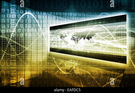 Information Security and Worldwide Data Protection on White - Stock Photo