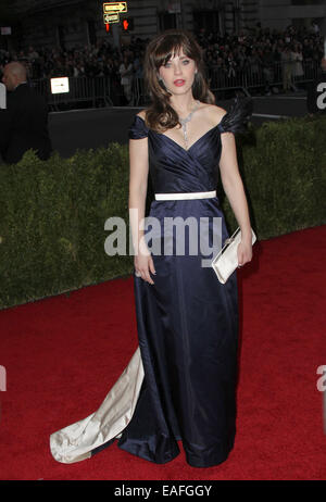Charles James: Beyond Fashion Costume Institute Gala  Featuring: Zooey Deschanel Where: New York, California, United - Stock Photo