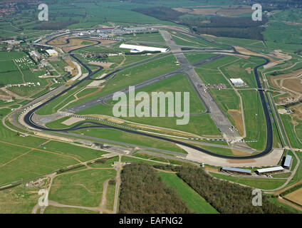 aerial view of Silverstone Racing Circuit in Northamptonshire, UK taken 1997 - Stock Photo