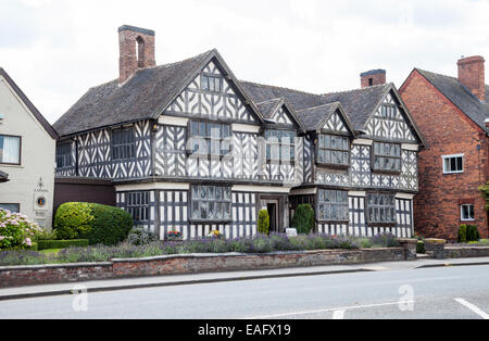 Churche's Mansion is a timber-framed, black-and-white Elizabethan mansion house at Hospital Street in Nantwich Cheshire - Stock Photo