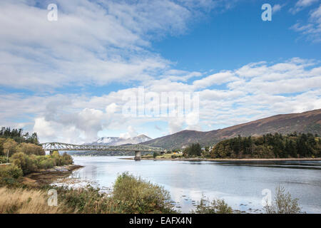 Ballachulish bridge & Loch Leven in the Highlands of Scotland. - Stock Photo