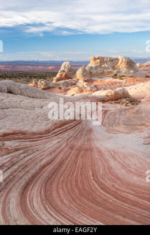 Unique sandstone formations known as White Pocket in Arizona. - Stock Photo