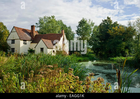 Willy lotts cottage featured in the painting the Haywain by John Constable. - Stock Photo