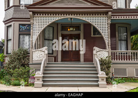 The beautiful Victorian Houses on Carroll Avenue in Echo Park. - Stock Photo