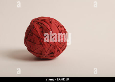ball made up of red rubber bands