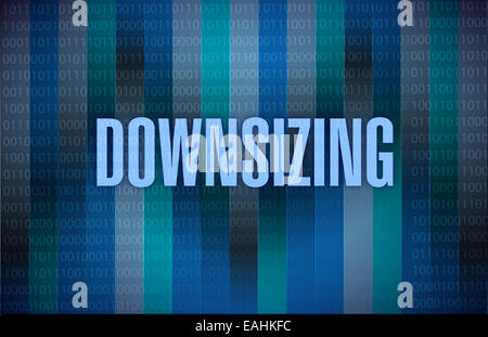 Downsizing text on a binary background - Stock Photo