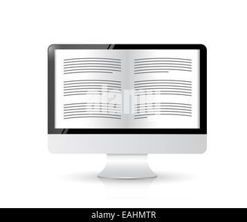 Ebook reader. computer illustration design - Stock Photo
