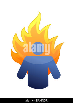 burnout concept illustration design over a white background - Stock Photo