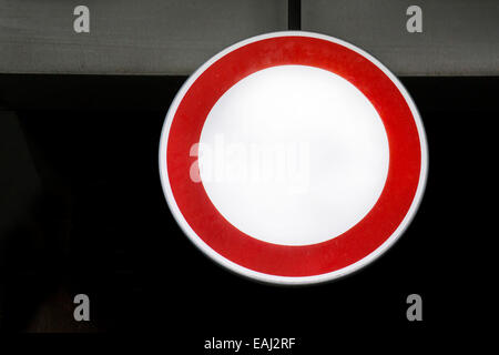 traffic sign all vehicles prohibited - Stock Photo