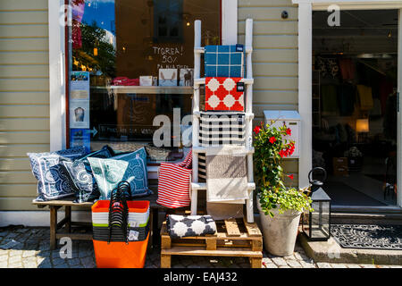 Homewares store, summer, Vaxholm, Stockholm County, Sweden - Stock Photo