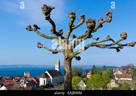 Meersburg, Bodensee, Baden-Württemberg, Deutschland, Europa - Stock Photo