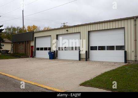 assiniboia fire control centre small rural fire service station Saskatchewan Canada - Stock Photo