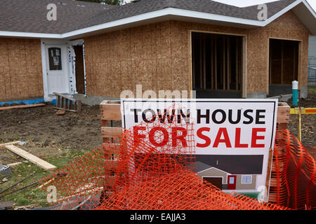 town house for sale under construction Saskatchewan Canada - Stock Photo