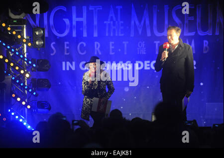 Emma Bunton on stage at the Regent Street Christmas Lights