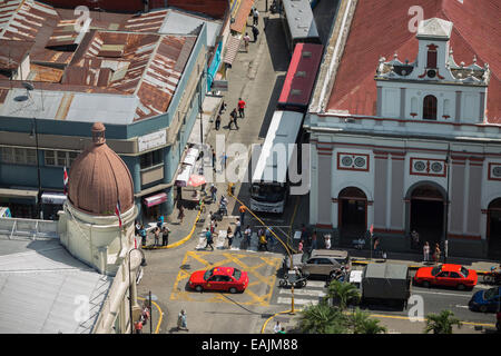 View from rooftop in San Jose Costa Rica - Stock Photo