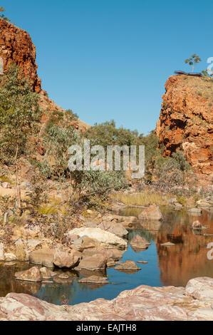 Waterhole in Ormiston Gorge, West MacDonnells, NT, Australia - Stock Photo