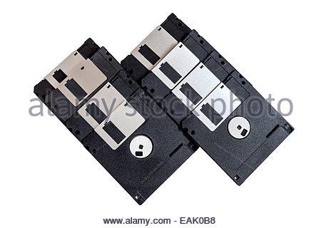 Floppy disks or diskettes - Stock Photo