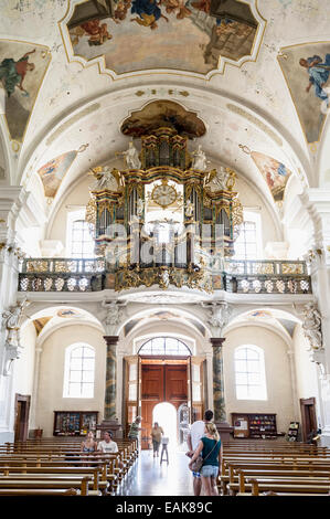 Baroque Abbey Church of Saint Peter in the Black Forest, St. Peter, Black Forest, Baden-Württemberg, Germany - Stock Photo