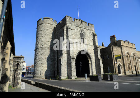 Westgate Tower, The West Gate, Canterbury, Kent, England - Stock Photo