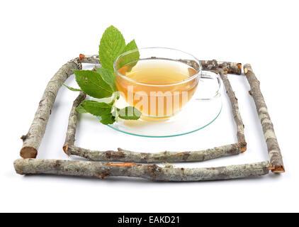 Lemon balm tea - Stock Photo