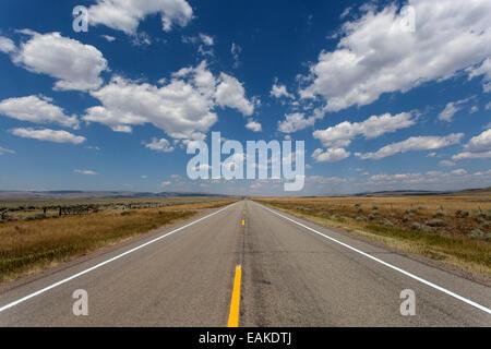 Highway no. 89, near Livingston, Montana, United States - Stock Photo