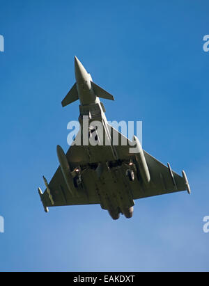 Eurofighter Typhoon FRG4 on approach to RAF Lossiemouth, Morayshire.  SCO 91§54 - Stock Photo