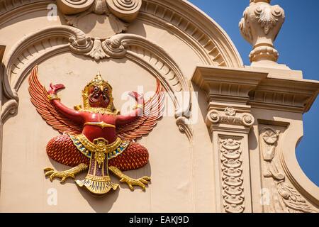 a garuda effigy in the wat phra kaew temple, Bangkok, Thailand - Stock Photo