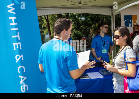 Miami Hialeah Florida Amelia Earhart Park Kozyak Annual Minority Mentoring Picnic networking law firm judges lawyers - Stock Photo