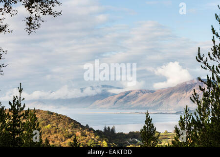 View from Glen Righ over Loch Linnhe & Ardnamurchan. - Stock Photo
