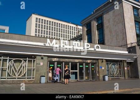 Biblioteka imeni Lenina metro station, Moscow, Russia, Europe - Stock Photo