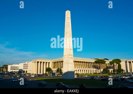 Piazza Guglielmo Marconi, EUR government and financial district, Rome, Italy - Stock Photo