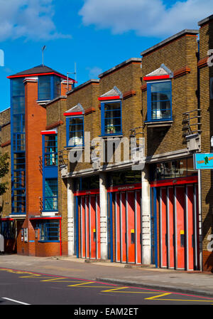 Islington Fire Station on Upper Street in Canonbury Islington North London N1 England UK operated by the London - Stock Photo