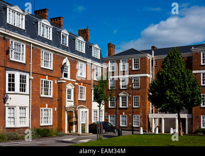 Tyndale Mansions an apartment block off Upper Street in Canonbury Islington North London N1 England UK - Stock Photo