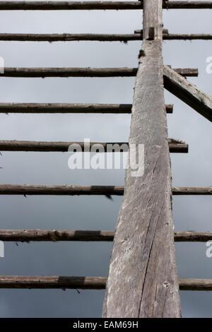 Old hayrack - Stock Photo